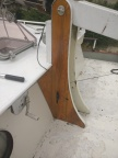 Revarnished mast holder