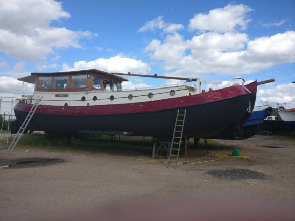 Anja in the boatyard